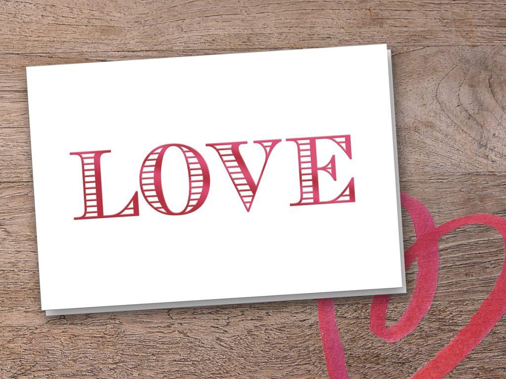 Valentinstag, Tag der Liebe, Karten zum Valentinstag