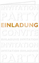 Einladungskarte, Einladung