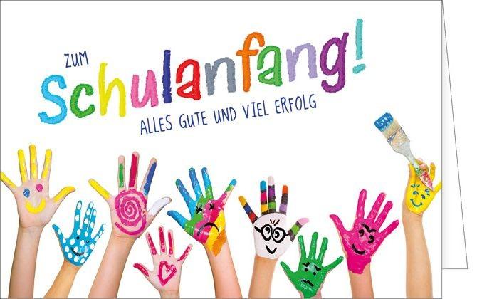 Einschulung, Einschulunskarte, Schulanfang, Schulbeginn, Schulanfangskarte, 1. Schultage, Schule