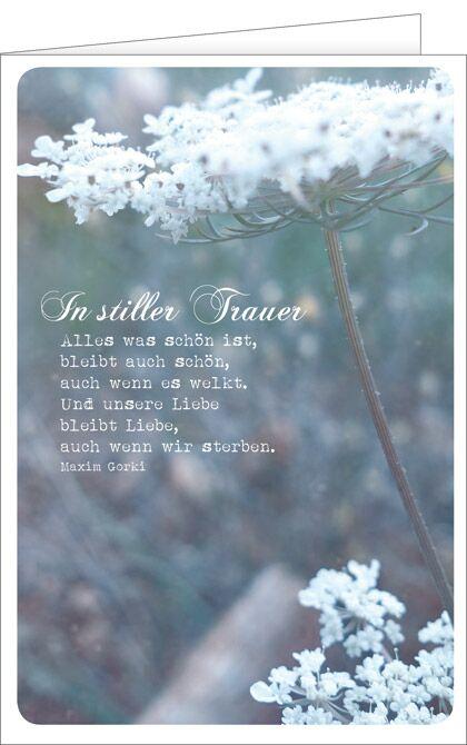 Trauerkarte, Trauerkarten, Beileidskarte, Tod, Beileidskarten, In stiller Trauer, In stillem Gedenken
