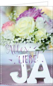 Hochzeit, Glückwunschkarte, Heirat, Zur Hochzeit