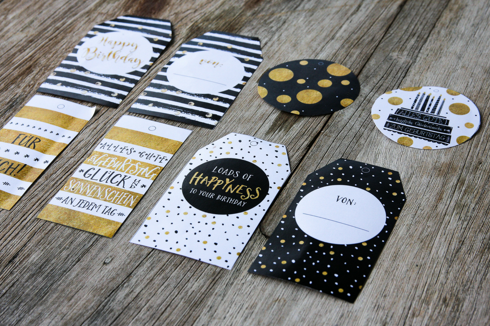DIY, Freebie, Geschenkanhänger, Geburtstagskarten