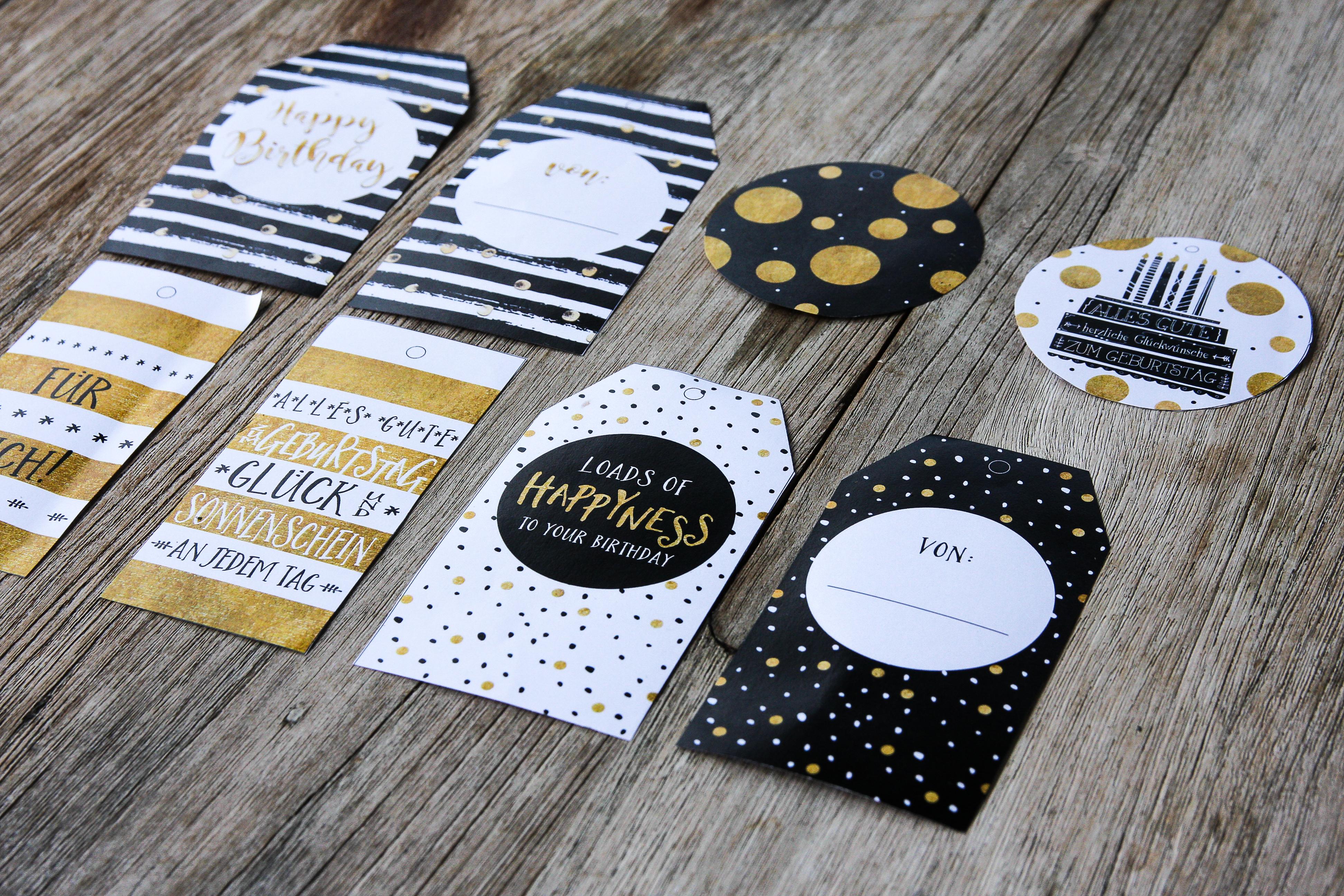 Geschenkanhänger, Paketanhänger, Glückwunschkarte, Grußkarte, Geburtstagskarte