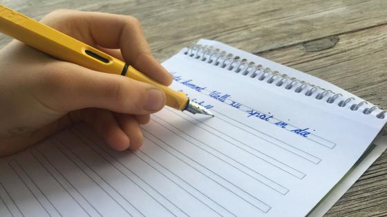 Grußkarten, Glückwunschkarten, Schreiben, Handschrift, Linkshänder