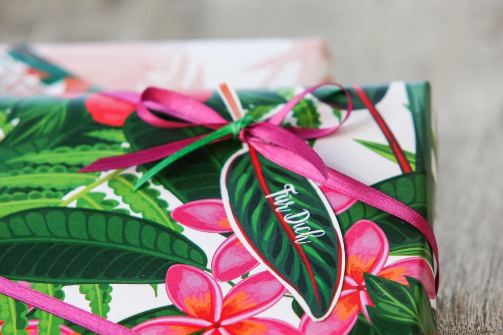 Geschenkanhänger, Geburtstagskarte, Anhänger, tropisch, exotisch