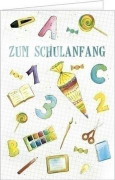Schulanfang, Schulanfangskarten, Schulbeginn, Einschulungskarten