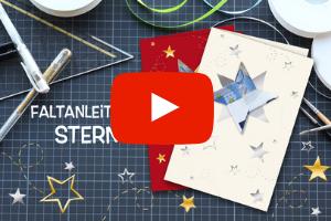 Faltanleitung Stern, Geldschein falten, Weihnachtskarte