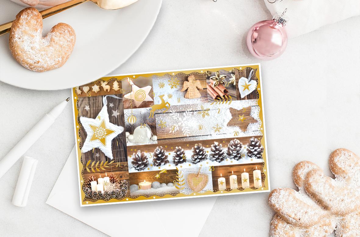Adventskalenderkarten, Adventskalender, Kundenbindung, Grußkarten, Weihnachtskarten, Weihnachtsmailing