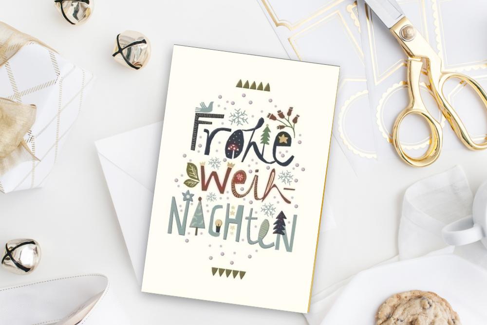 Weihnachtskarte, Weihnachten, Weihnachtskarte schreiben