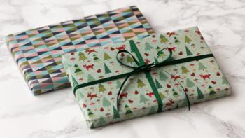 Freebie: Geschenkpapier für Weihnachten Fuchs & Geometrie