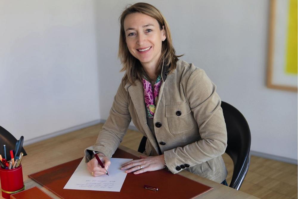 Stefanie Hanfstingl-Kariger führt den Grußkartenverlag Hanra und ist auch Vorsitzende der Initiative Schreiben